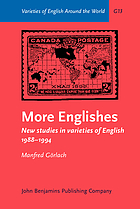 More Englishes : New studies in varieties of English 1988-1994.