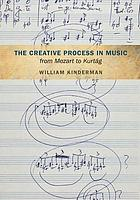 The creative process in music from Mozart to Kurtág