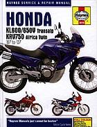 Honda XL600/650 Transalp & XRV750 Africa Twin service and repair manual : 1987 to 2007