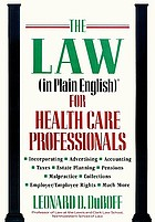 The law (in plain English) for health care professionals