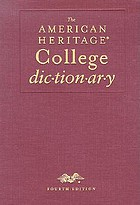 The American Heritage college dictionary.
