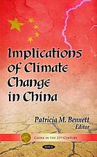 Implications of climate change in China