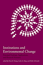 Institutions and environmental change : principal findings, applications, and research frontiers