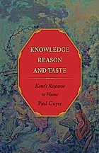 Knowledge, reason, and taste : Kant's response to Hume