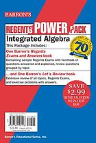 Barron's Regents power pack. Integrated algebra.