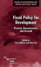 Fiscal policy for development : poverty, reconstruction and growth