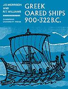 Greek Oared Ships, 900-322 B.C. cover image