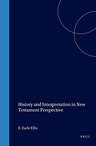 History and interpretation in New Testament perspective