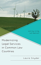 Modernizing legal services in common law countries : will the US be left behind?