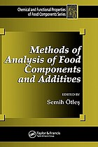 Methods of analysis of food components and additives