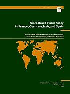 Rules-based fiscal policy in France, Germany, Italy, and Spain