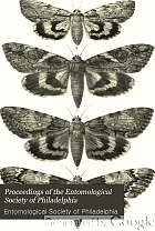 Proceedings of the Entomological Society of Philadelphia.