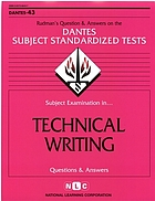 Subject examination in-- technical writing : questions and answers.