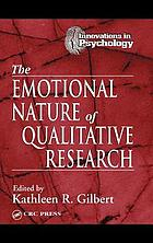 The emotional nature of qualitative research
