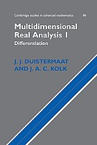 Multidimensional real analysis. 1, Differentiation