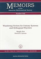 Wandering vectors for unitary systems and orthogonal wavelets