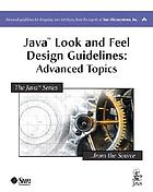 Java look and feel design guidelines : advanced topics