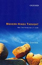 Modern Hindu thought : an introduction
