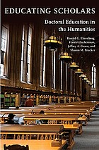 Educating scholars : doctoral education in the humanities