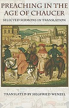 Preaching in the age of Chaucer : selected sermons in translation
