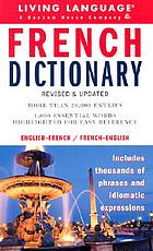 French dictionary : French-English, English-French