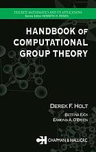 Handbook of computational group theory