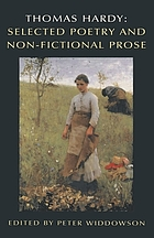 Thomas Hardy : selected poetry and non-fictional prose