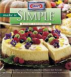 Kraft make it simple recipe collection.