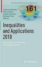 Inequalities and applications 2010 : dedicated to Wolfgang Walter
