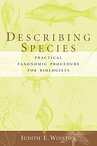 Describing species : practical taxonomic procedure for biologists