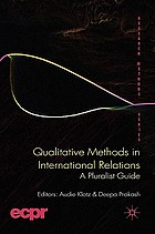 Qualitative Methods in International Relations: A Pluralist Guide cover image