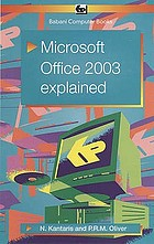 Microsoft Office 2003 explained