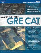 Master the GRE CAT 2004