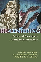 Re-centering : culture and knowledge in conflict resolution practice