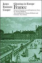 Gleanings in Europe / fran The writings of James Fenimore Cooper / James Franklin Beard, ed.-in-chief : France.