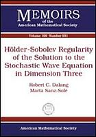 Hölder-Sobolev regularity of the solution to the stochastic wave equation in dimension three