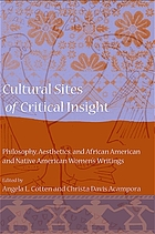 Cultural Sites of Critical Insight : Philosophy, Aesthetics, and African American and Native American Women's Writings.