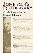 Johnson's dictionary : a modern selection