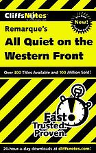 CliffsNotes Remarque's All quiet on the Western Front