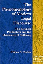The phenomenology of modern legal discourse : the juridical production and the disclosure of suffering