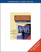 Data analysis & decision making with Microsoft Excel