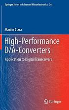 High-performance D/A-converters : application to digital transceivers
