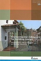 Environmental indicators for building design : development and application on Mexican dwellings