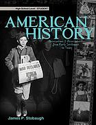 American history : observations & assessments from early settlement to today