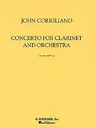 Concerto for clarinet and orchestra : clarinet and piano