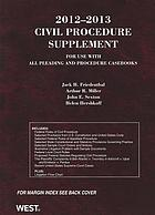 2012-2013 civil procedure supplement