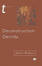 Deconstruction, Derrida