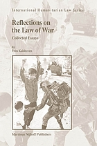 Reflections on the law of war : collected essays