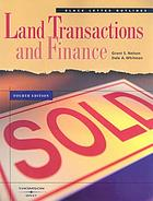 Land transactions and finance