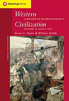 Western civilization : a history of European society